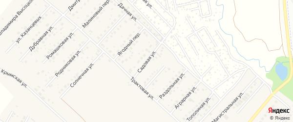Садовая улица на карте села Миловки с номерами домов