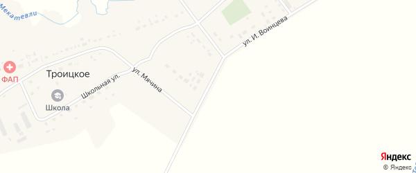Улица Мячина на карте Троицкого села с номерами домов