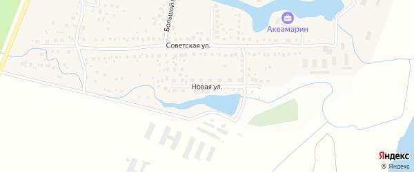 Новая улица на карте села Миловки с номерами домов