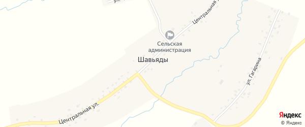 Улица Гагарина на карте деревни Шавьяды с номерами домов