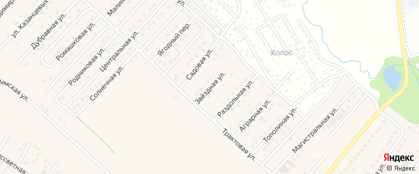 Звездная улица на карте села Миловки с номерами домов