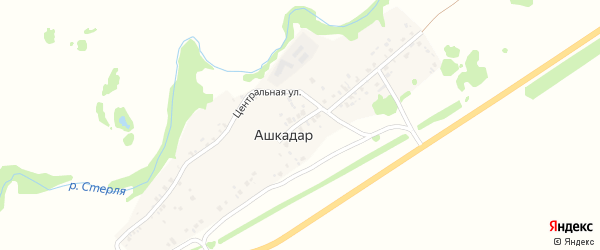 Улица Нефтянников на карте деревни Ашкадара с номерами домов