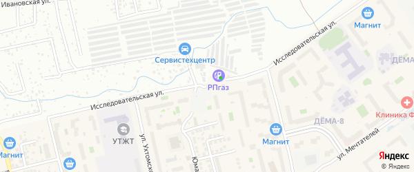 Исследовательская улица на карте Уфы с номерами домов