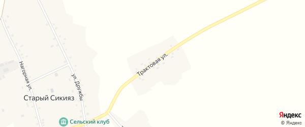 Трактовая улица на карте деревни Старого Сикияза с номерами домов