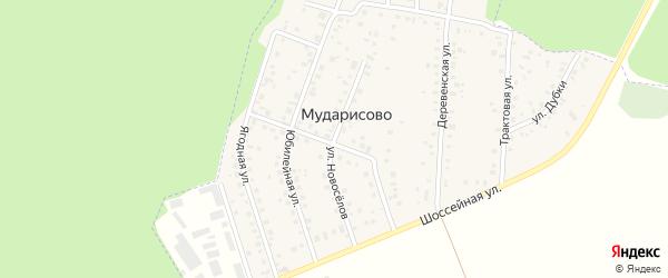 Улица Новоселов на карте деревни Мударисово с номерами домов