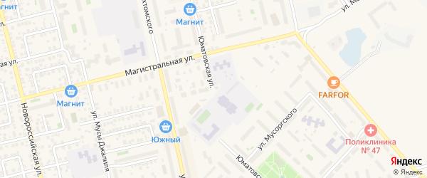 Юматовская улица на карте Уфы с номерами домов