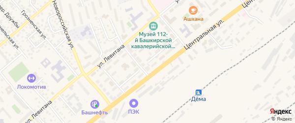 Рядовая улица на карте Уфы с номерами домов