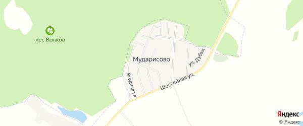Карта деревни Мударисово в Башкортостане с улицами и номерами домов