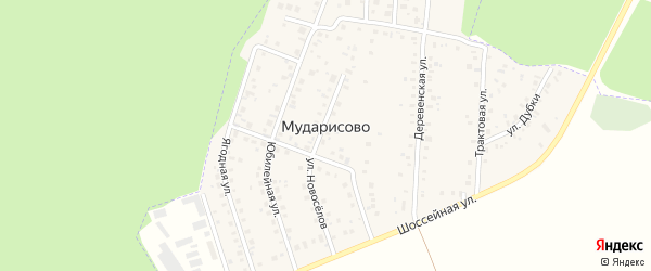 Красноярская улица на карте деревни Мударисово с номерами домов