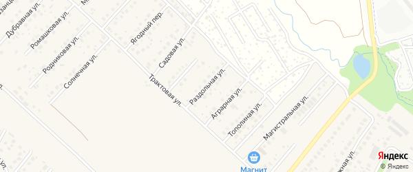 Раздольная улица на карте села Миловки с номерами домов