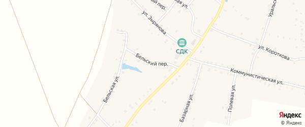 Бельский переулок на карте села Удельно-Дуванея с номерами домов