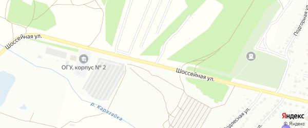 Шоссейная улица на карте Кумертау с номерами домов