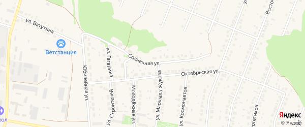 Солнечная улица на карте села Ермолаево с номерами домов