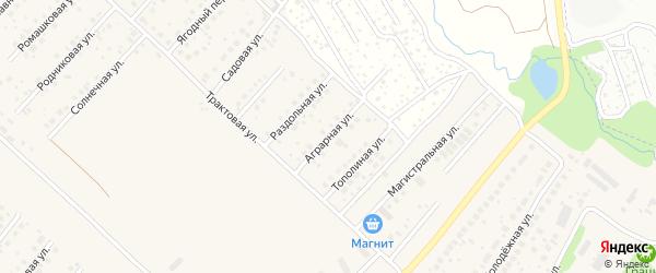 Аграрная улица на карте села Миловки с номерами домов