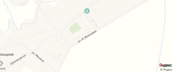 Улица И.Воинцева на карте Троицкого села с номерами домов