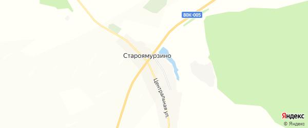 Карта деревни Староямурзино в Башкортостане с улицами и номерами домов