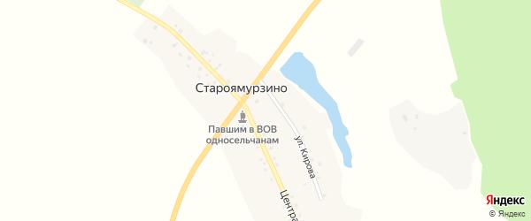 Центральная улица на карте деревни Староямурзино с номерами домов
