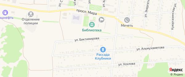 Улица Биктимирова на карте села Ермолаево с номерами домов