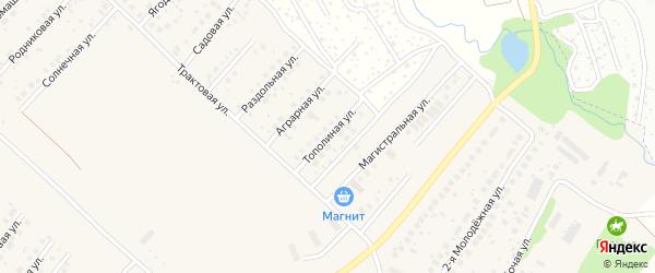 Тополиная улица на карте села Миловки с номерами домов