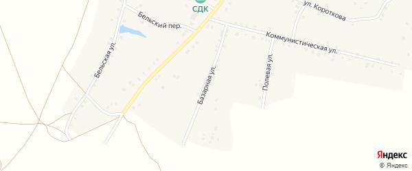 Базарная улица на карте села Удельно-Дуванея с номерами домов