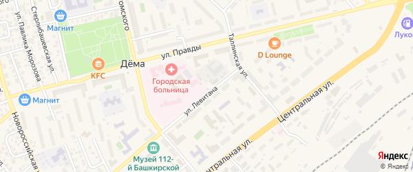 Колпинская улица на карте Уфы с номерами домов
