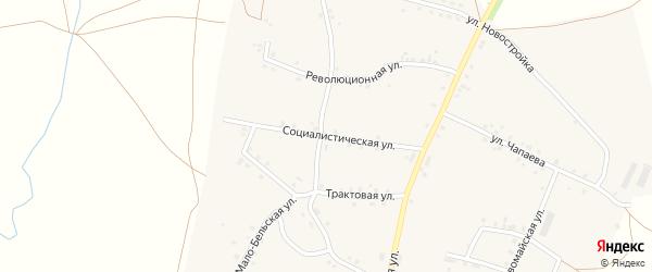 Социалистическая улица на карте села Удельно-Дуванея с номерами домов
