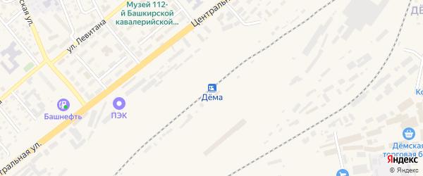 Бирюзовая улица на карте станции Демы с номерами домов