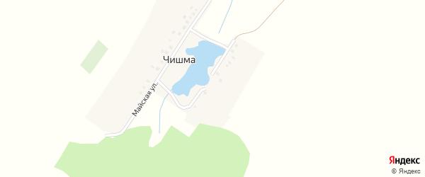 Улица Мира на карте деревни Чишмы с номерами домов