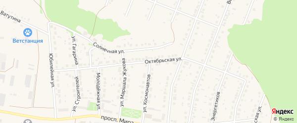 Октябрьская улица на карте села Ермолаево с номерами домов