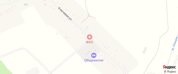 Ключевая улица на карте села Болотино с номерами домов
