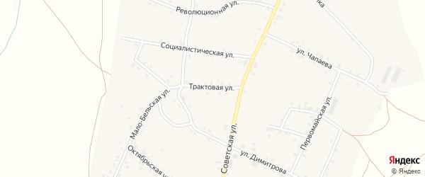 Трактовая улица на карте села Удельно-Дуванея с номерами домов
