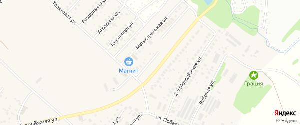 Придорожная улица на карте села Миловки с номерами домов