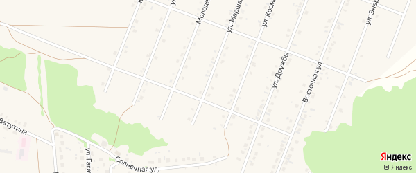 Улица Маршала Жукова на карте села Ермолаево с номерами домов