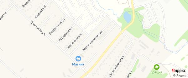 Магистральная улица на карте села Миловки с номерами домов