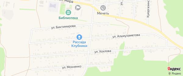 Улица Альмухаметова на карте села Ермолаево с номерами домов