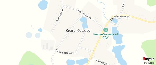 Родниковая улица на карте деревни Кизганбашево с номерами домов