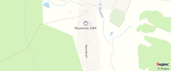 Лесная улица на карте деревни Кигазытамаково с номерами домов