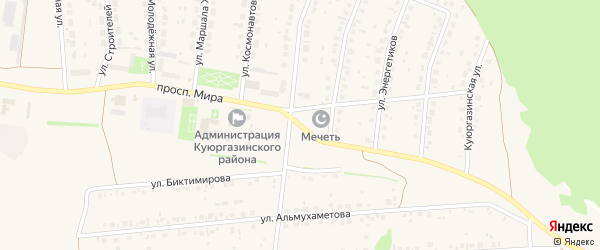 Проспект Мира на карте села Ермолаево с номерами домов