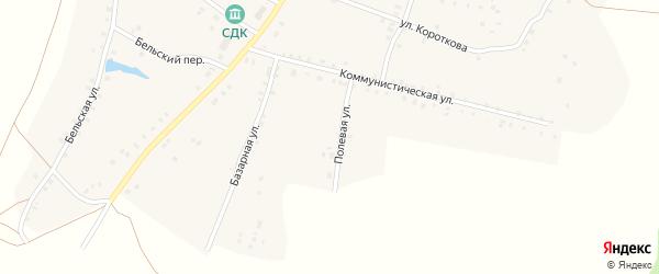 Полевая улица на карте села Удельно-Дуванея с номерами домов