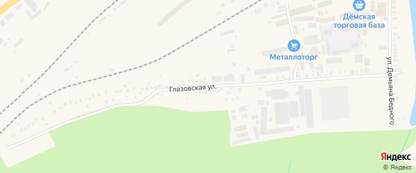 Глазовская улица на карте Уфы с номерами домов