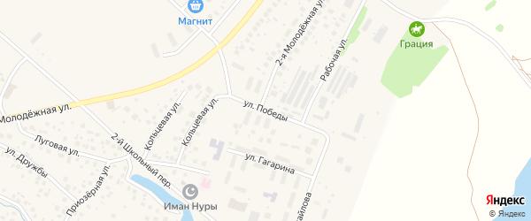 Улица Победы на карте села Миловки с номерами домов