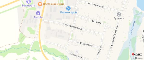 Улица Механизаторов на карте села Верхние Татышлы с номерами домов