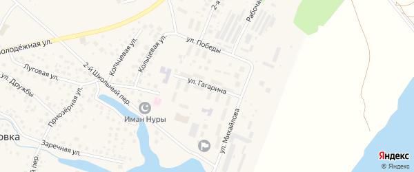 Улица Гагарина на карте села Миловки с номерами домов