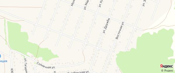Улица Космонавтов на карте села Ермолаево с номерами домов