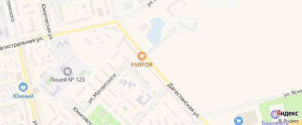 Дагестанская улица на карте Уфы с номерами домов