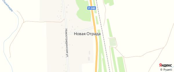 Железнодорожная улица на карте деревни Новой Отрады с номерами домов