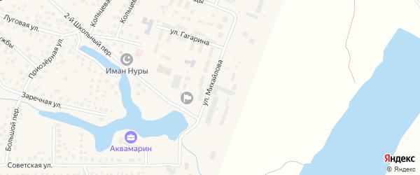 Улица Михайлова на карте села Миловки с номерами домов