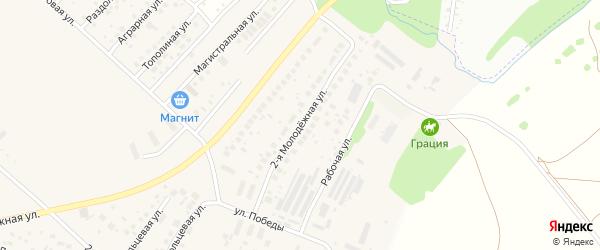 Молодёжная 2-я улица на карте села Миловки с номерами домов
