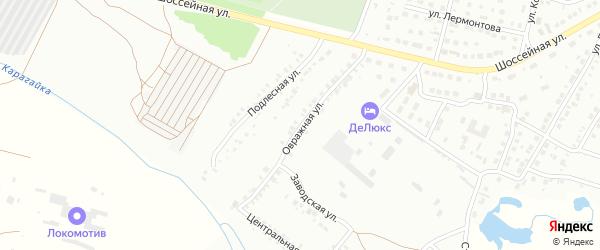 Овражная улица на карте Кумертау с номерами домов