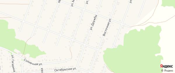 Улица Дружбы на карте села Ермолаево с номерами домов
